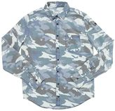 Zadig & Voltaire Camouflage Print Cotton Chambray Shirt
