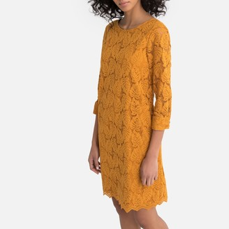 La Redoute Collections Guipure Lace Shift Dress