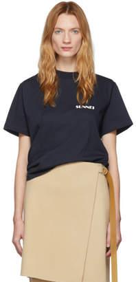 Sunnei Blue Logo T-Shirt