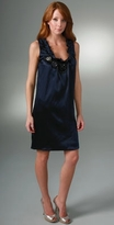 Vera Wang Lavender Label Jeweled U Neck Dress