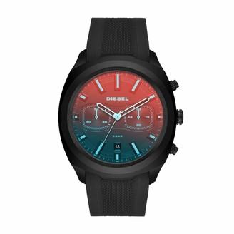 Diesel Mens Chronograph Quartz Watch with Silicone Strap DZ4493