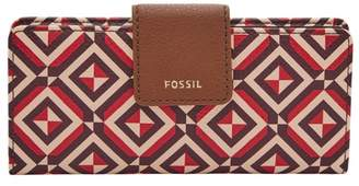 Fossil Madison Slim Clutch Wallet Yellow Multi