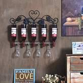 AIDEXIAOWU JYB/ Wrought iron wine rack. creative wall mounted wine rack