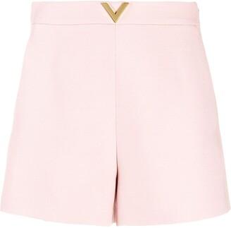 Valentino V plaque short shorts