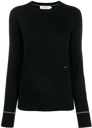 Calvin Klein Embroidered Logo Knit Sweater