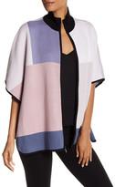 Anne Klein Knit Colorblock Poncho