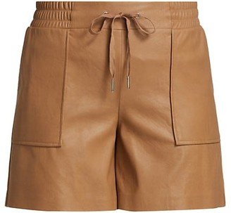 n:philanthropy Samy Leatherette High-Rise Shorts