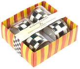 Mackenzie Childs Courtly Check Napkin Rings (Set of 4)
