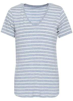 Majestic Filatures Striped Stretch-jersey T-shirt