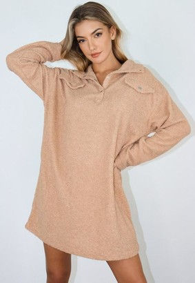 Missguided Borg Utility Sweater Dress