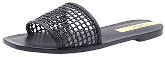 Kaanas Pipa Braided Net Slide (Black) Women's Shoes