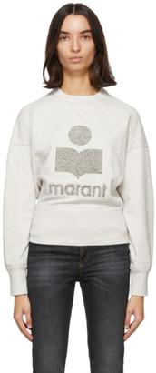 Etoile Isabel Marant Grey and Off-White Teloya Sweatshirt