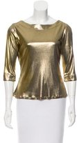 Moschino Metallic Three-Quarter Sleeve Top