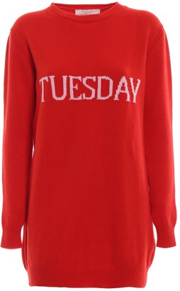 Alberta Ferretti Tuesday Mini Sweater Dress
