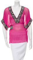 Matthew Williamson Embellished Silk Cover-Up Top