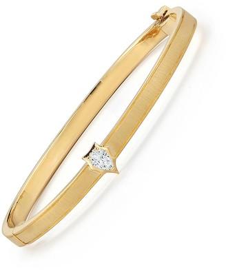 Jade Trau Medium Diamond Envoy Bangle Bracelet - Yellow Gold