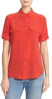Equipment Women's Slim Signature Short Sleeve Silk Shirt