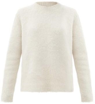 Joseph Round-neck Brushed-alpaca Sweater - Ivory