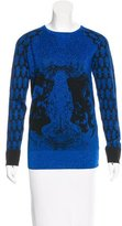 Prabal Gurung Metallic Rib Knit Top