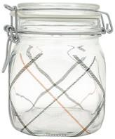 Bormioli Fido .75 Liter Canning Jar - Plaid Black & Red