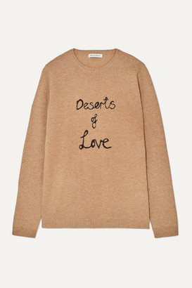 Bella Freud Deserts Of Love Cashmere-blend Sweater - Sand