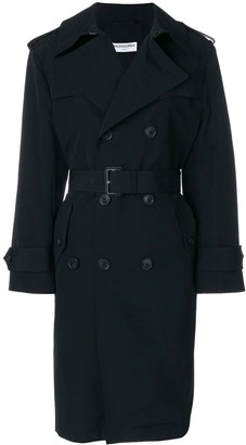Balenciaga Black Swing Trench Coat