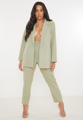 Missguided Plus Size Sage Co Ord Tailored Cigarette Trousers