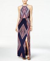Trixxi Juniors' Printed Halter Maxi Dress