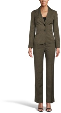 Le Suit Notched Collar Two-Button Pantsuit