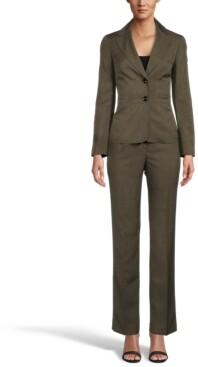 Le Suit Petite Button-Front Pantsuit