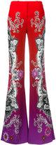 Roberto Cavalli printed straight-leg trousers - women - Polyester/Spandex/Elastane/Viscose - 42