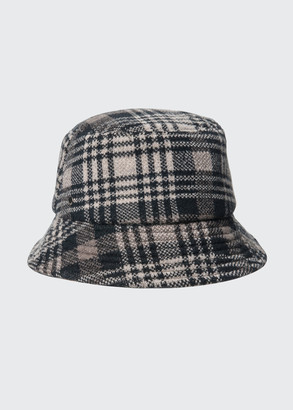 Inverni Plaid Wool/Cashmere Bucket Hat