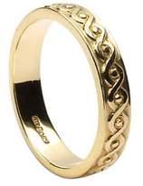 BORU Ladies Celtic Knot Irish Wedding Band 10k Yellow Size 8.5