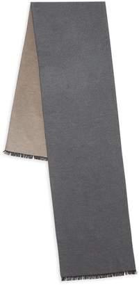 Saks Fifth Avenue Fringe-Trimmed Reversible Silk Scarf