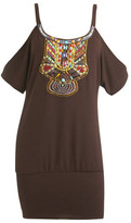 Indian Embellished Cold Shoulder Tunic