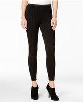 Kensie Flocked Polka-Dot Leggings, A Macy's Exclusive Style