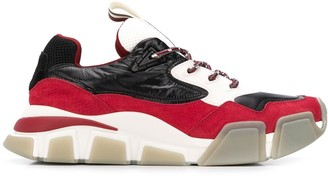 Salvatore Ferragamo colour block sneakers