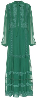 Costarellos Silk-chiffon maxi dress