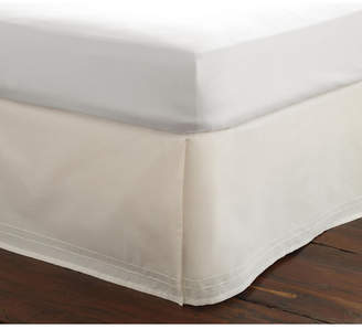 Laura Ashley King Solid Tailored White Bedskirt Bedding