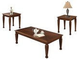 Acme 3 Piece Marion Pack Coffee End Table Set Cherry