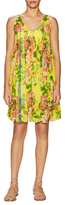 Plenty by Tracy Reese Smocked Daytime Print Shift Dress