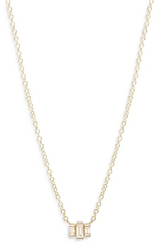 Zoë Chicco Zoe Lev 14K Yellow Gold Diamond Baguette Pendant Necklace, 16