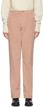Rag & Bone Pink Corduroy Ruth Super High-Rise Trousers