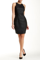 Alexia Admor Faux Leather Embossed Sheath Dress