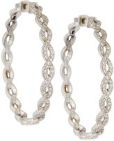 Penny Preville 18k Infinity Diamond Hoop Earrings