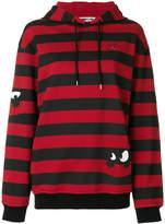 McQ striped Swallows hoodie