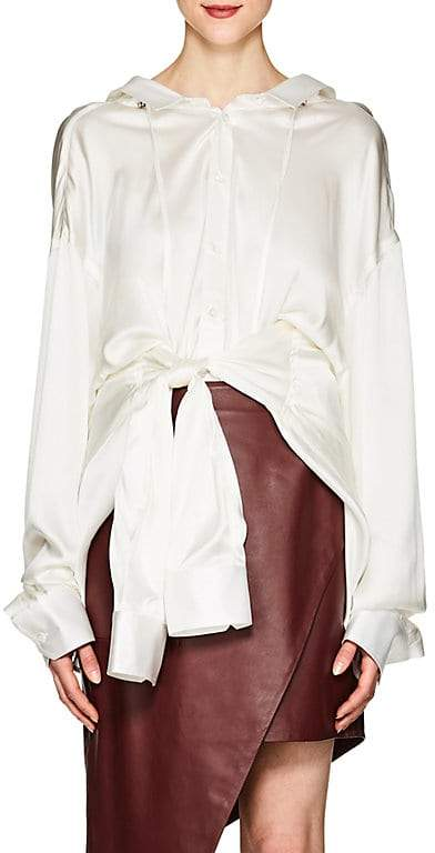 Y/Project Women's Four-Sleeve Silk Satin Blouse