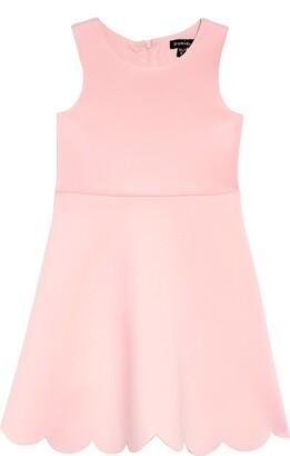 Zunie Scallop Hem Scuba Dress