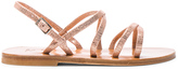K. Jacques Metallic Suede Batura Sandals