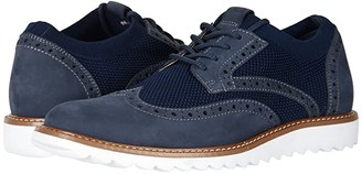 Dockers Hawking Knit/Leather Smart Series Dress Casual Wingtip Oxford with NeverWet (Navy Knit/Nubuck) Men's Lace up casual Shoes